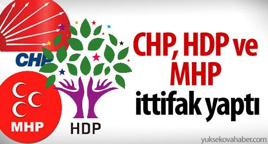 CHP, MHP, HDP ve İYİ PARTİ ANLAŞTI!
