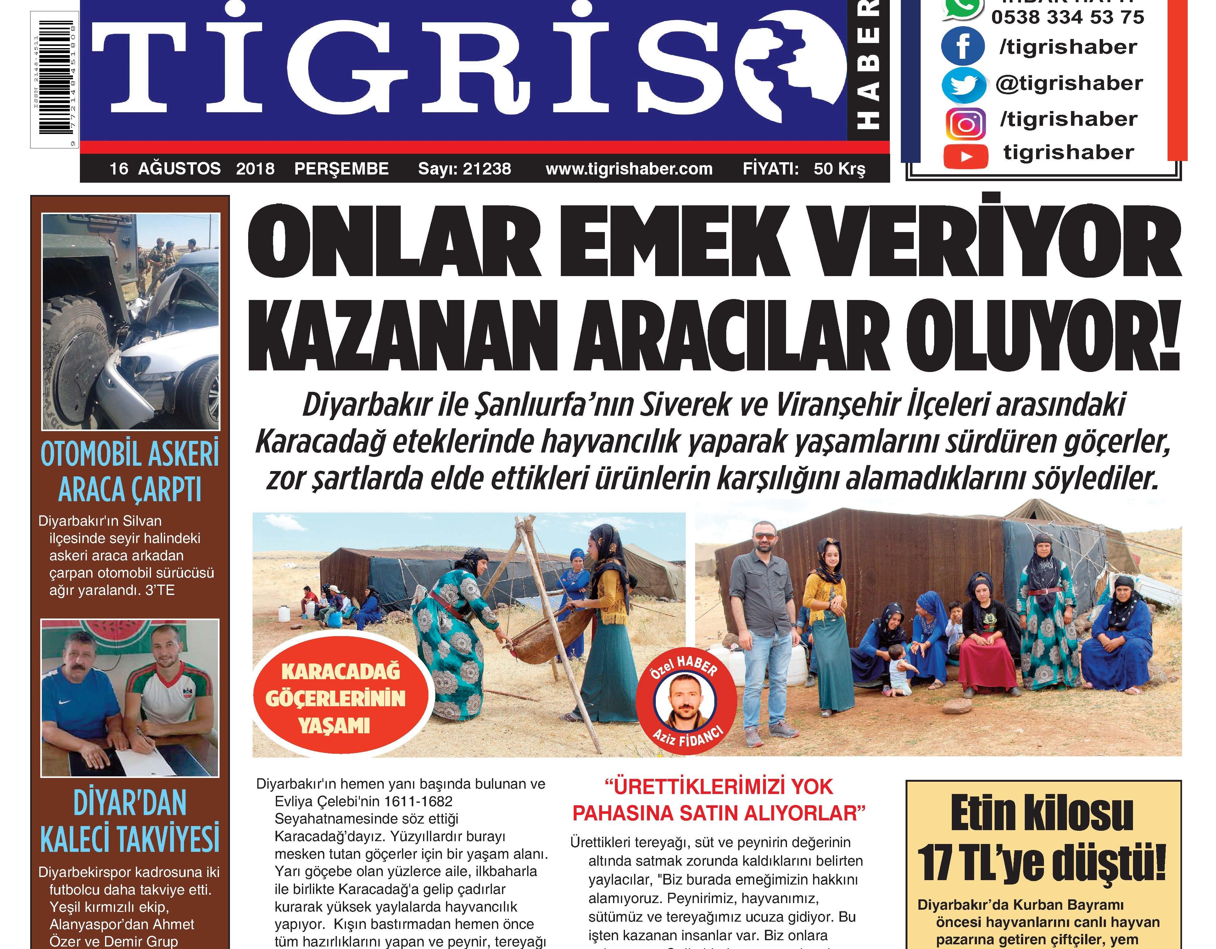 TİGRİS GAZETESİ'NE BİR ÖDÜL DAHA