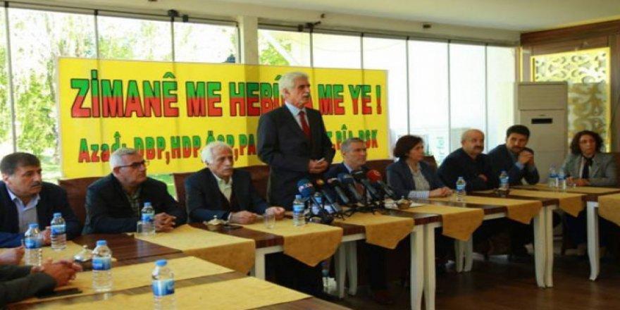 9 Kürt partisinin 'Dil Çalıştayı' başlıyor