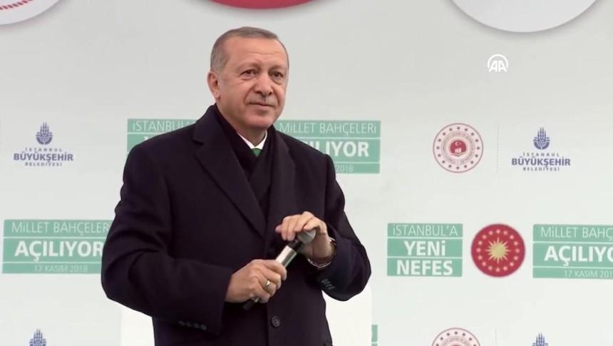 Cumhurbaşkanı Erdoğan: Gezi adına yakıp yıkanlar Millet bahçelerini görsün