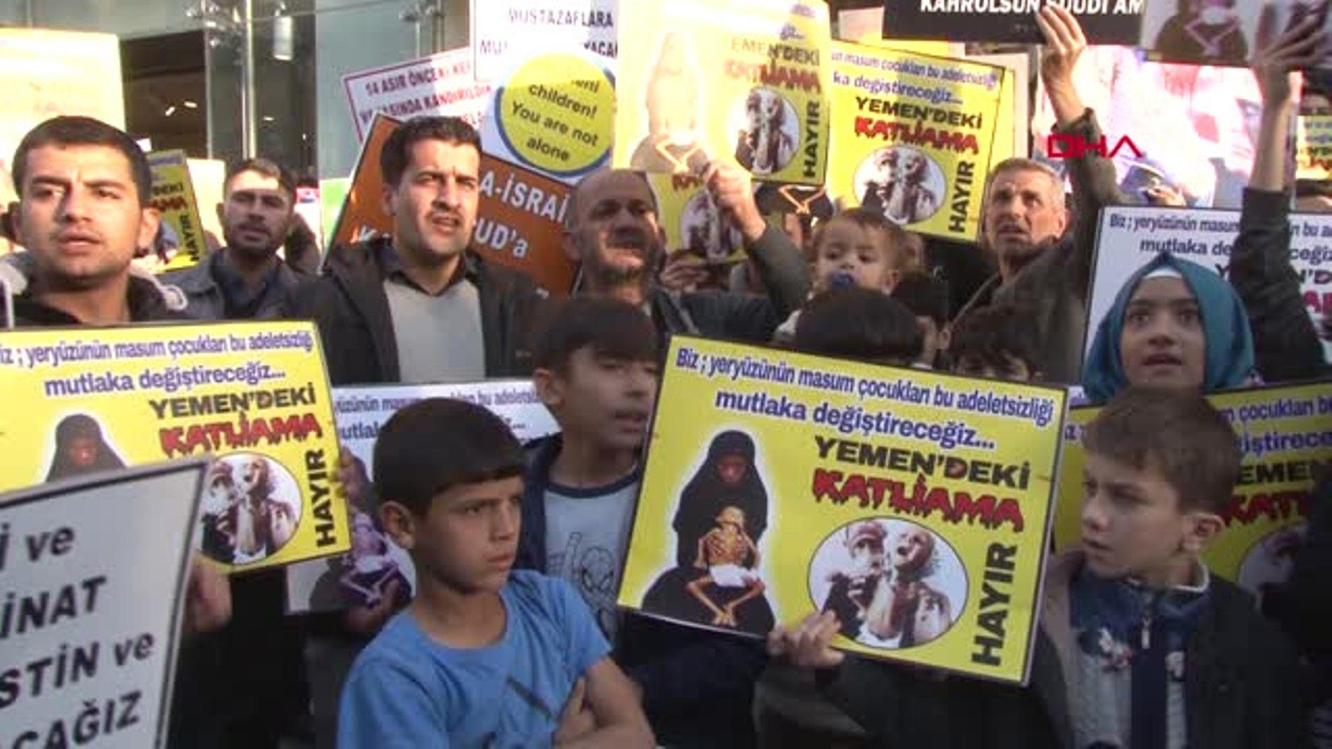 VİDEO- Diyarbakır'da Suudi Arabistan protesto edildi