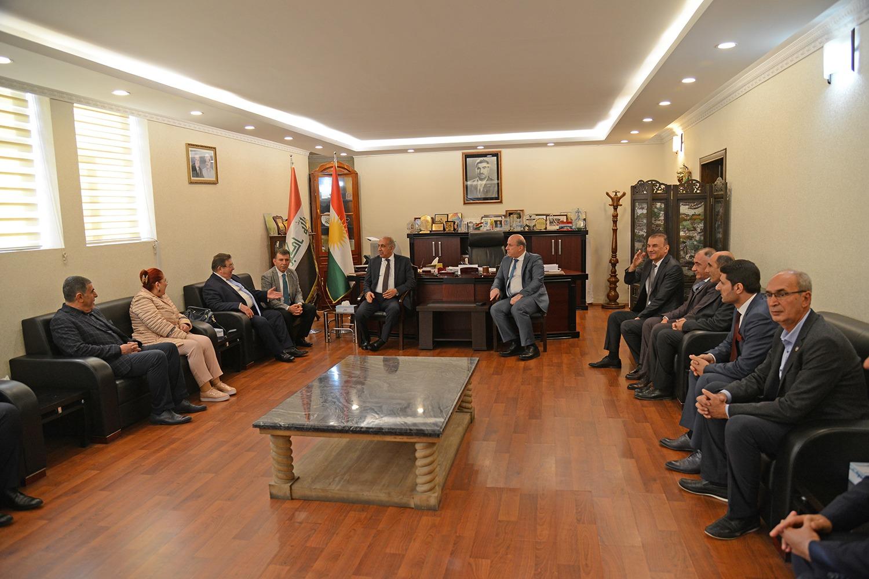 DTSO heyetinden Erbil Valisine ziyaret