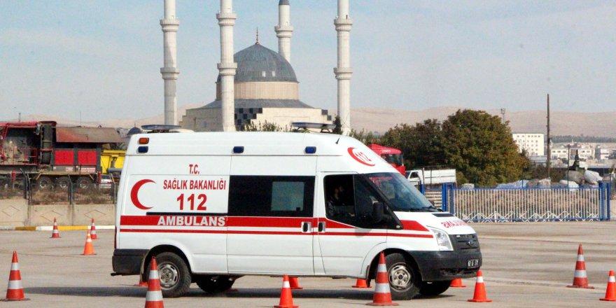 Şanlıurfa'da, ambulans şoförlerine ileri sürüş eğitimi
