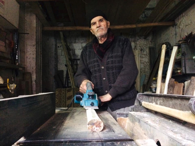 74 yaşındaki marangoz ustası
