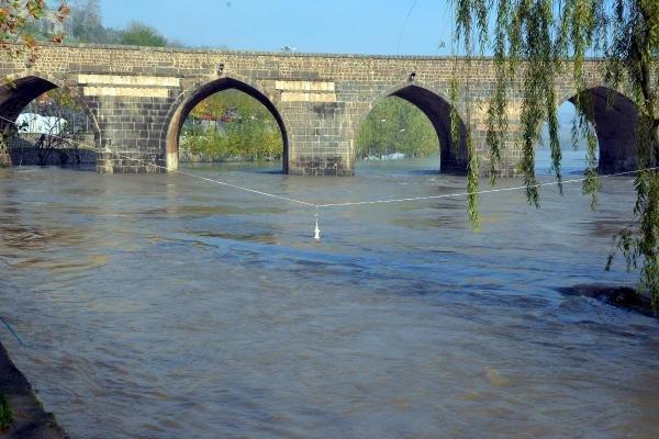 VİDEO- Dicle Nehri'nde Su Seviyesi Azaldı, Tehlike Sürüyor