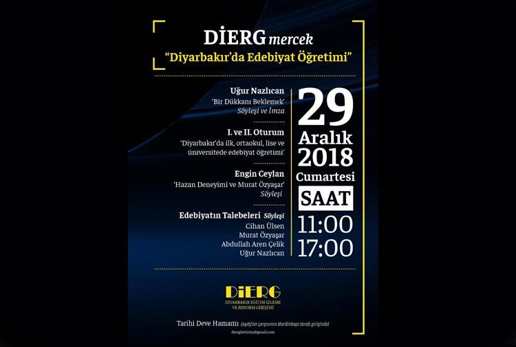 DİERG, Diyarbakır'da Edebiyat Öğretimi'ni tartışacak!