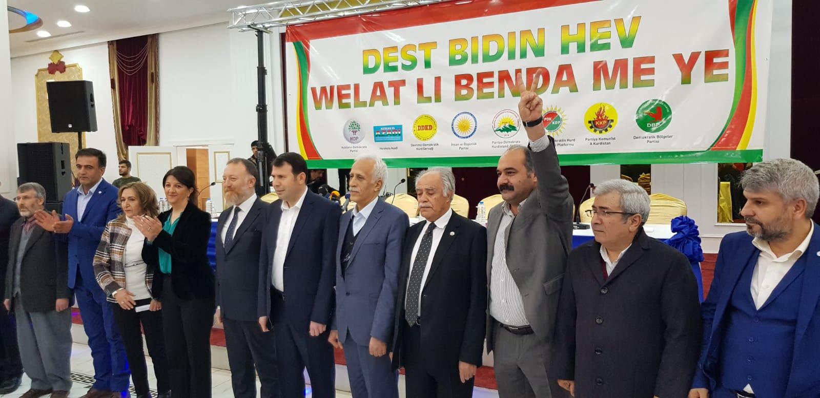 Kürt partiler ortak deklarasyonu açıkladı