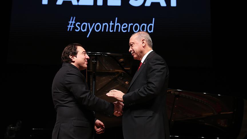 Erdoğan, Fazıl Say konserini izledi