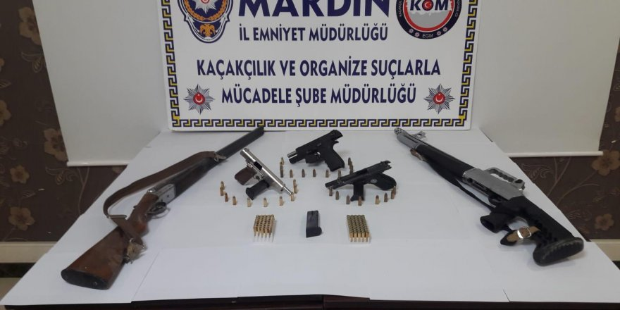 Mardin'de 5 ruhsatsız silah ele geçirildi
