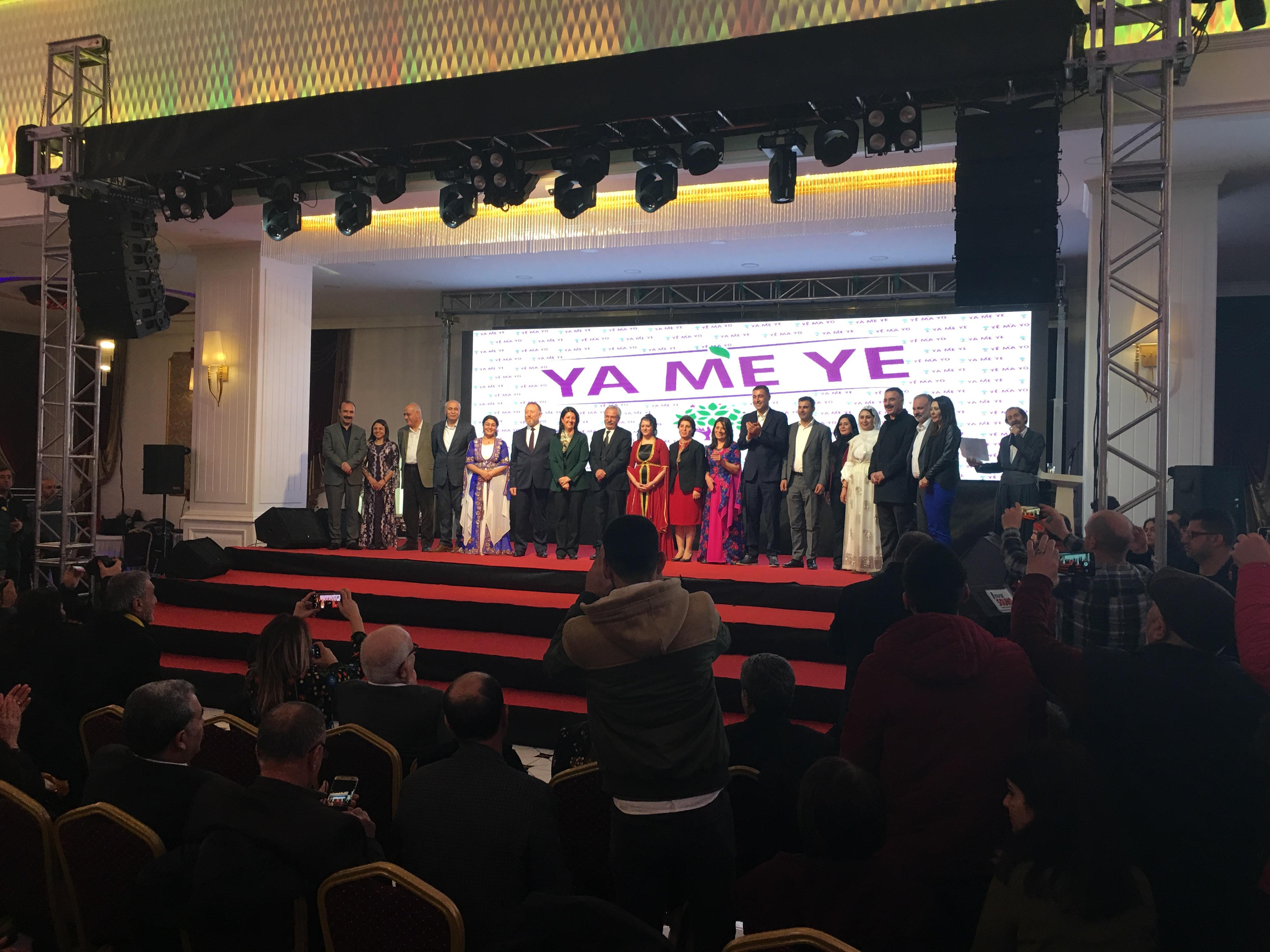 VİDEO- HDP, adaylarını Diyarbakır'da tanıttı