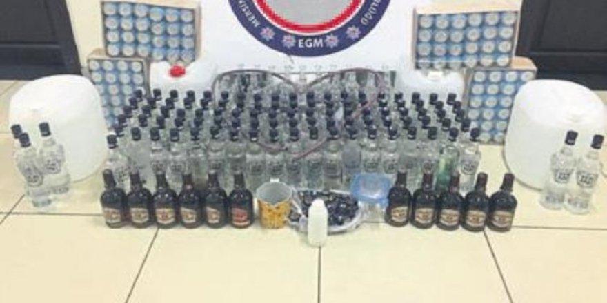 Mardin'de 145 şişe kaçak içki ele geçirildi