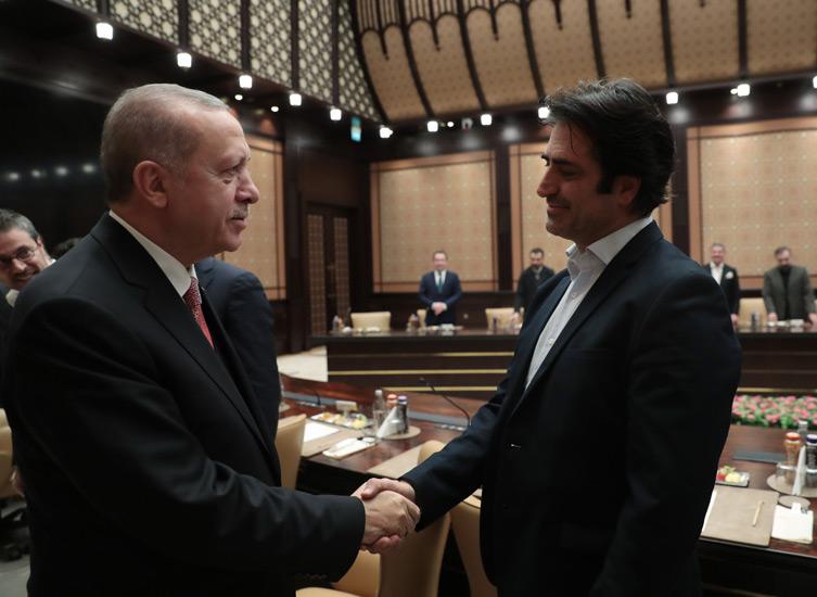 Cumhurbaşkanı Erdoğan sinema temsilcileri ile görüştü