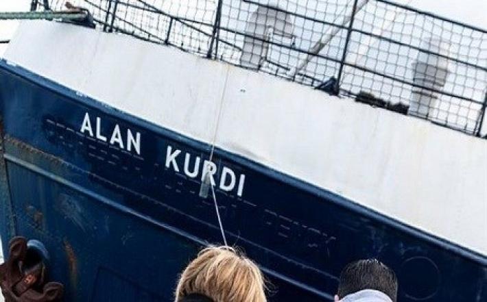 Sığınmacıları kurtaran gemiye Alan Kurdi adı verildi