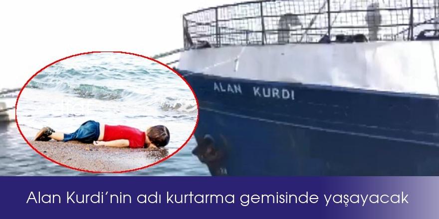 Alan Kurdi'nin adı kurtarma gemisinde yaşayacak