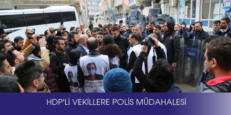 Leyla Güven için yürümek isteyen HDP'li vekillere polis müdahalesi