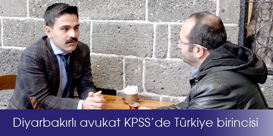 VİDEO- Diyarbakırlı avukat KPSS'de Türkiye birincisi