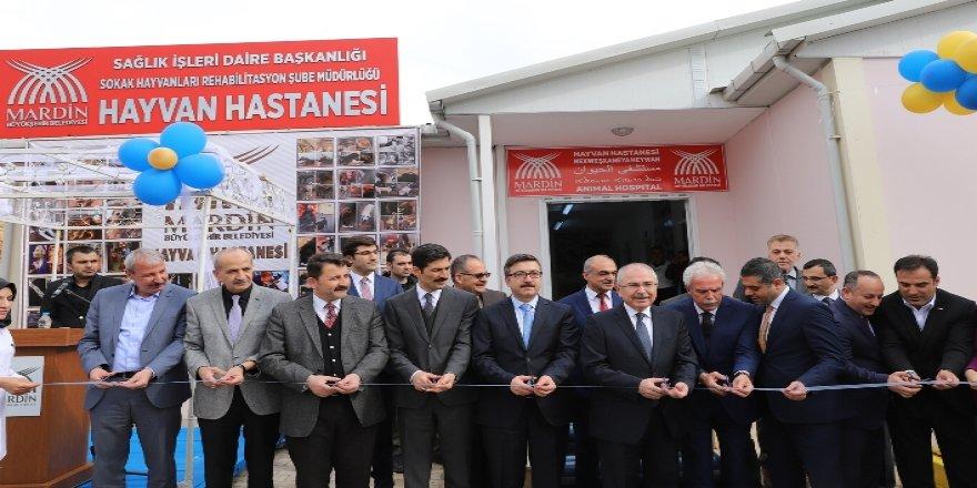 Mardin'de kurulan Hayvan Hastanesi açıldı