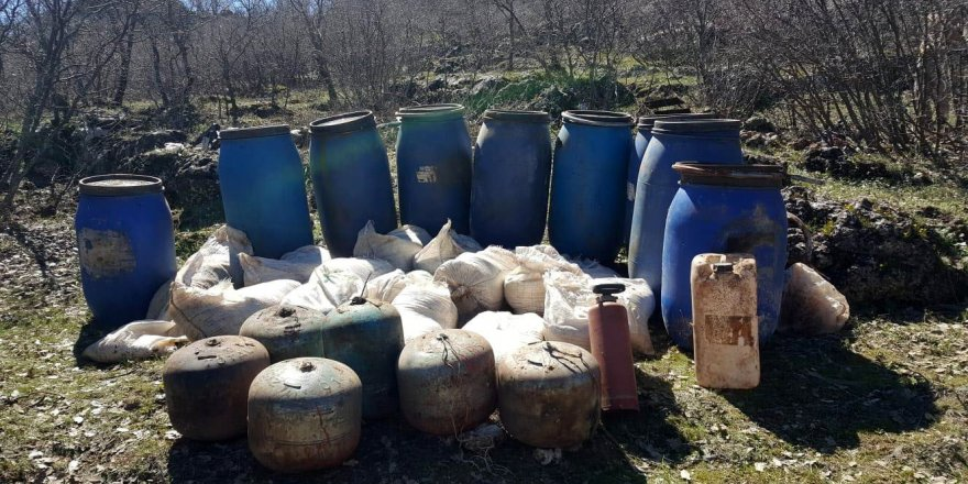 Mardin'de 2 ton amonyum nitrat ele geçirildi