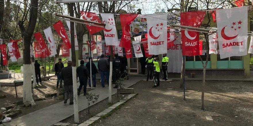 Şanlıurfa'da Saadet Partisinin seçim bürosuna saldırı düzenlendi