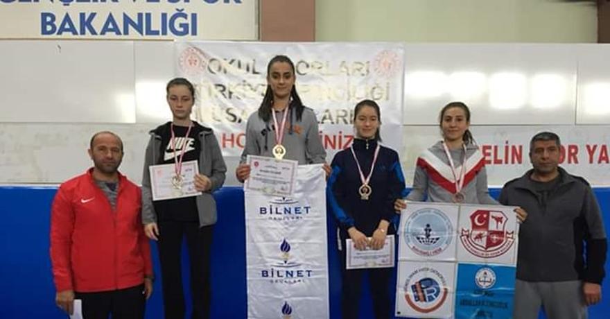 Bilnetli sporcu Türkiye şampiyonu