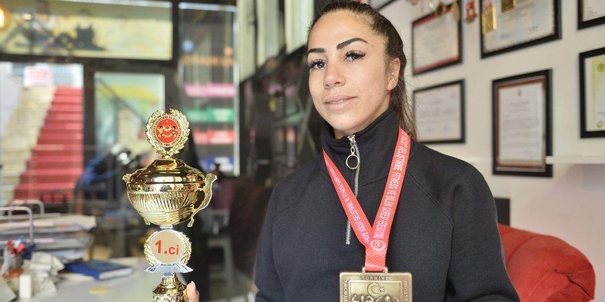Mardinli kadın sporcunun hedefi Avrupa şampiyonluğu