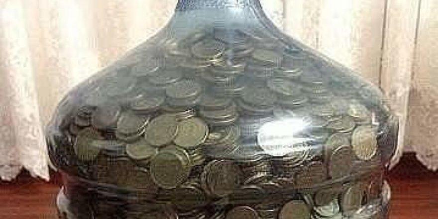 Batmanlı esnaf damacanada 10 bin lira biriktirdi