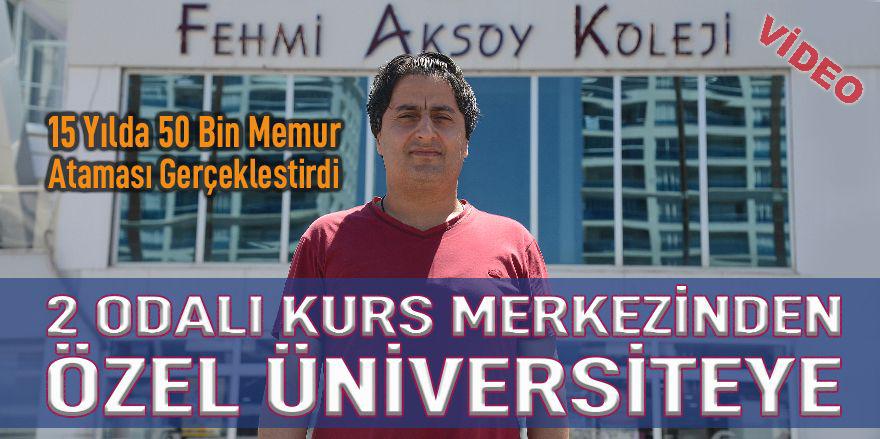 Kurs merkezinden özel Üniversiteye