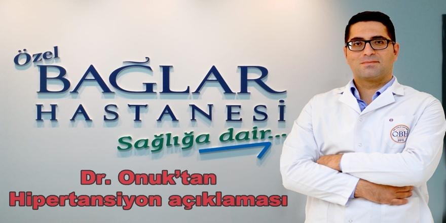 Dr. Onuk'tan hipertansiyon açıklaması