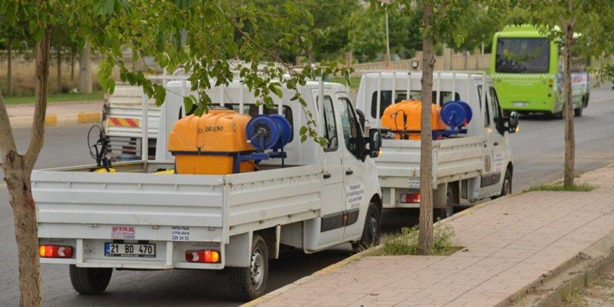 Büyükşehir 162 personelle İlaçlama çalışmalarına hız verdi