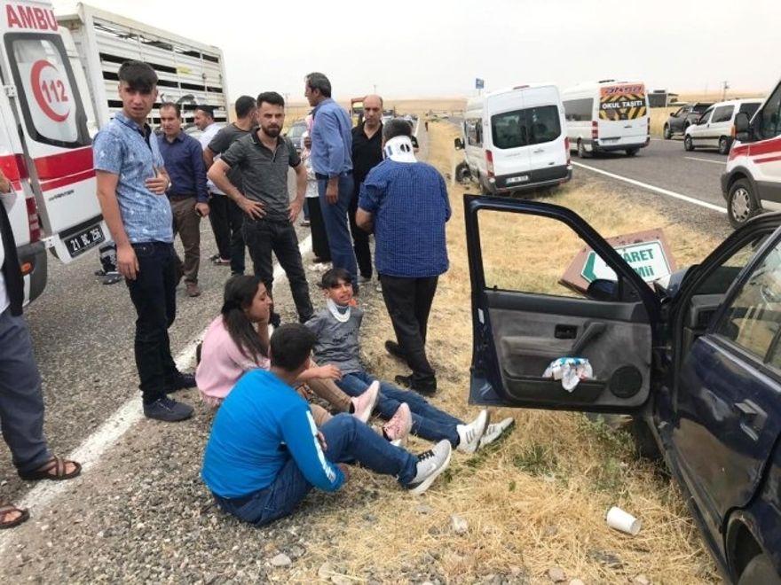 Ergani'de kaza: 7 yaralı