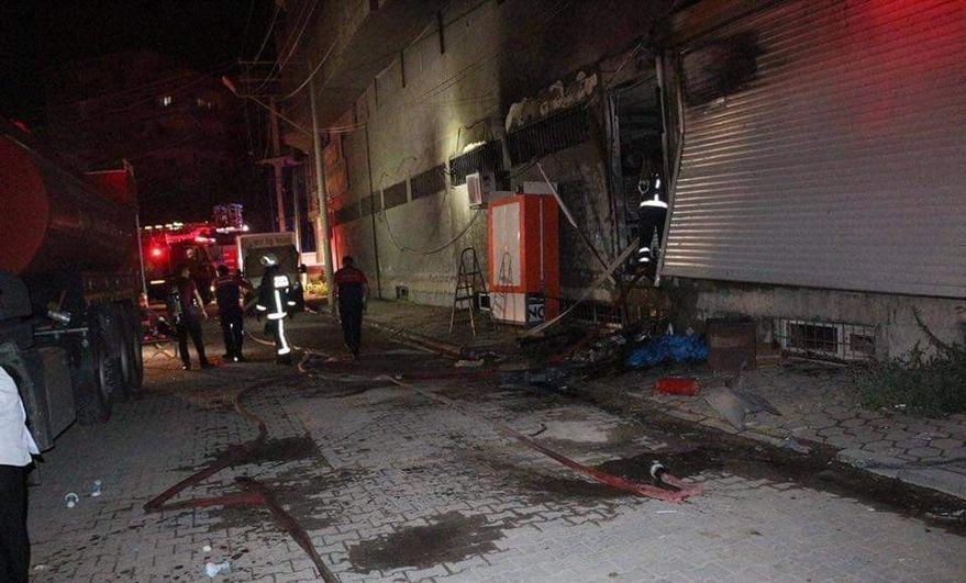 Kızıltepe'de yangın