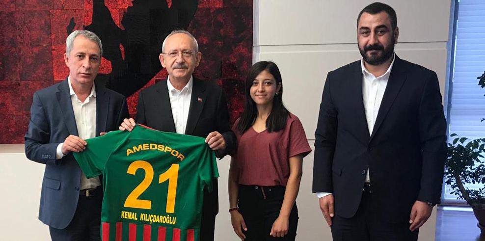 Amedspor heyetinden Kılıçdaroğlu'na ziyaret