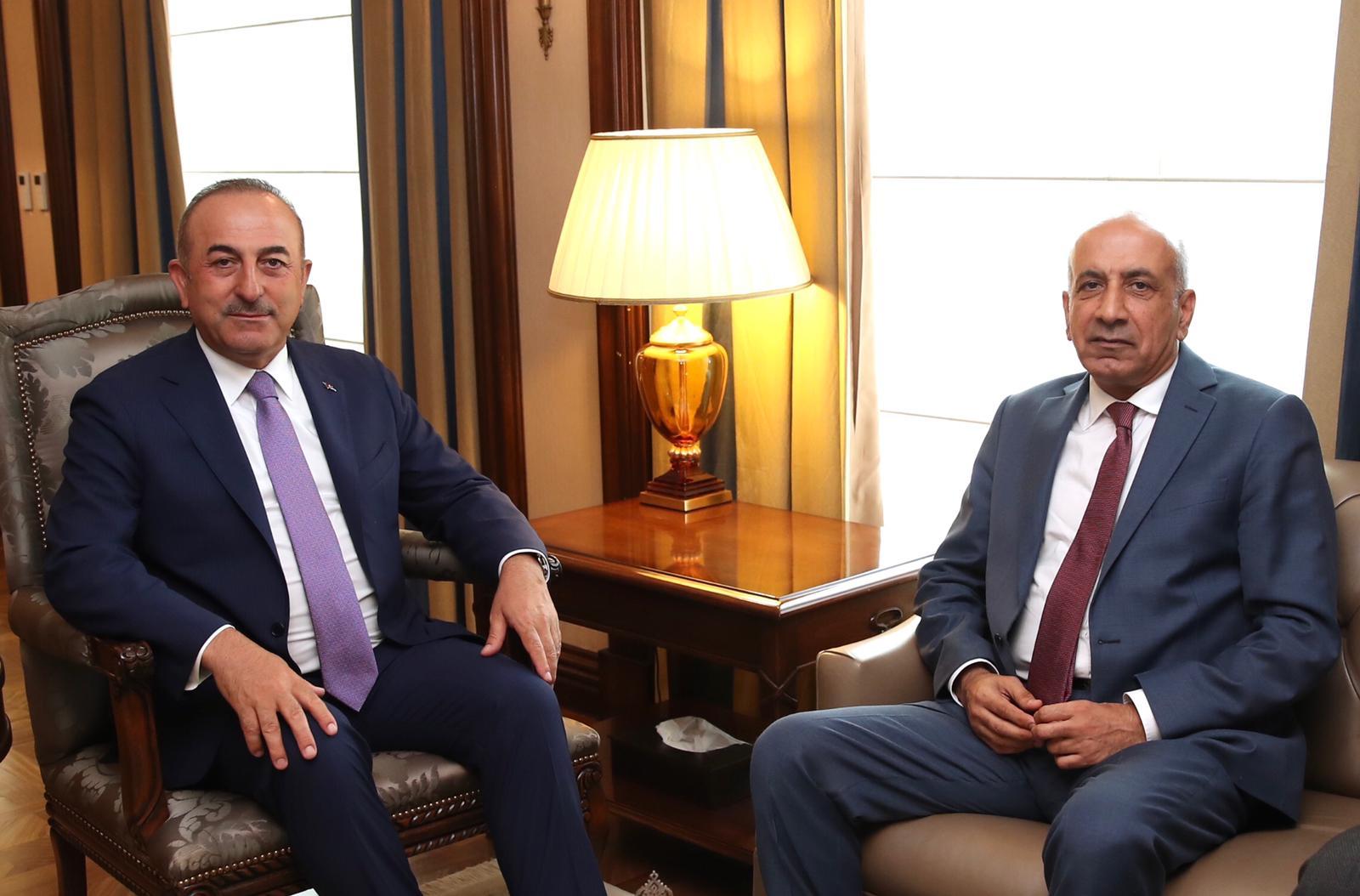 Kaya Dışişleri Bakanı Çavuşoğlu ile bir araya geldi