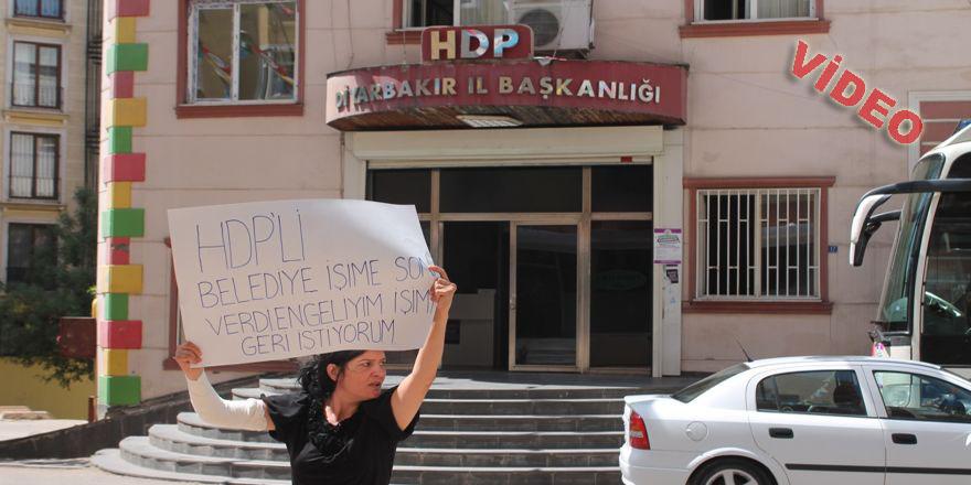 HDP önünde protesto eylemi yaptı