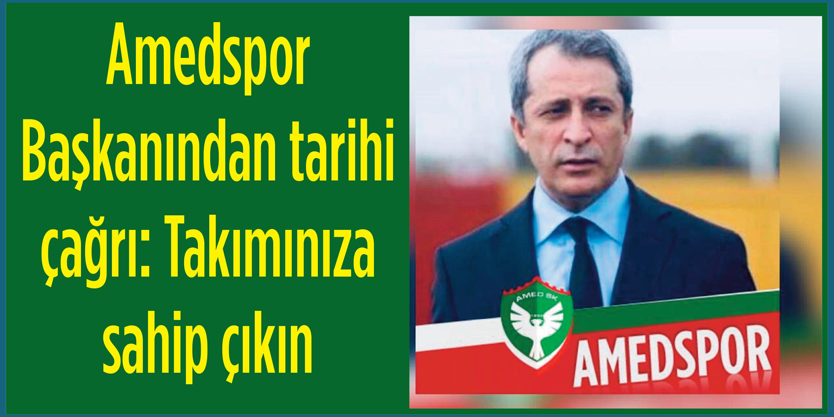 Amedspor Başkanı Kılavuz: Gün birlik olma günü