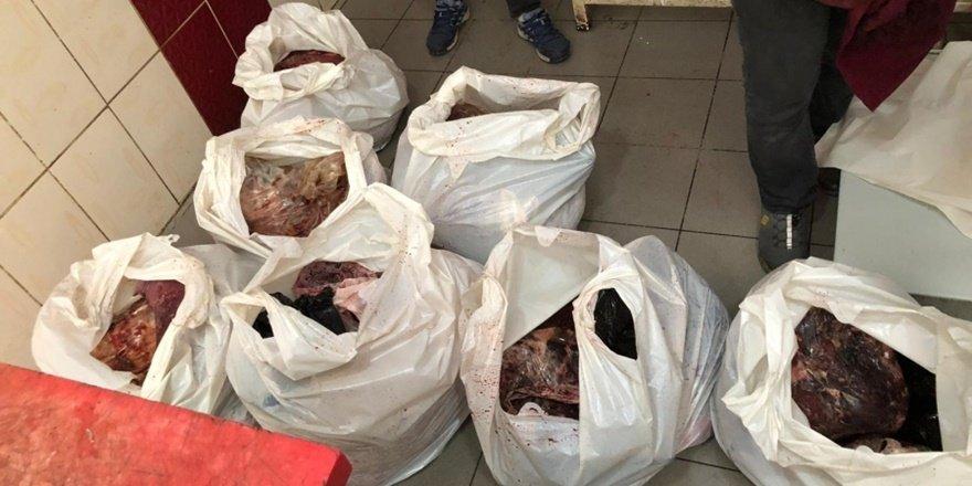 Diyarbakır'da 500 kilo bozuk et ele geçirildi