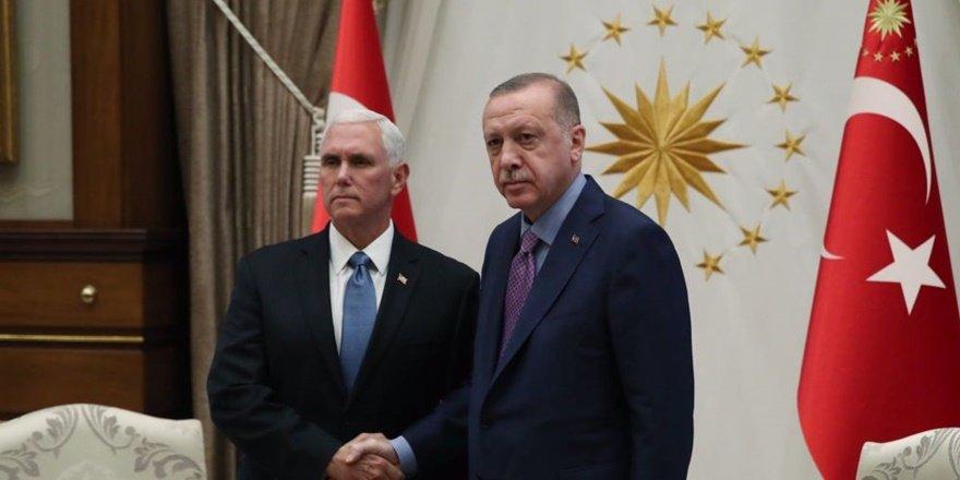 Erdoğan ile Pence Beştepe'de görüştü