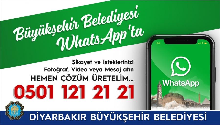 Büyükşehir Belediyesi WhatsApp hattını aktifleştirdi