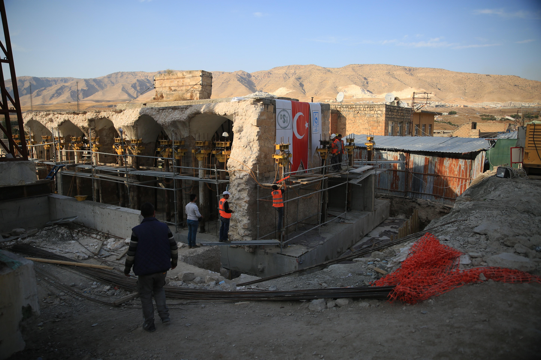Hasankeyf'te son eser taşınma işlemleri devam ediyor