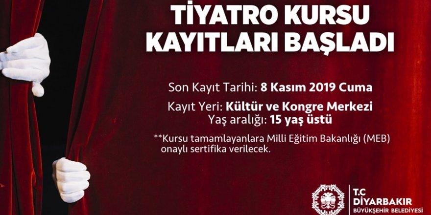 Büyükşehir'den tiyatro kursu