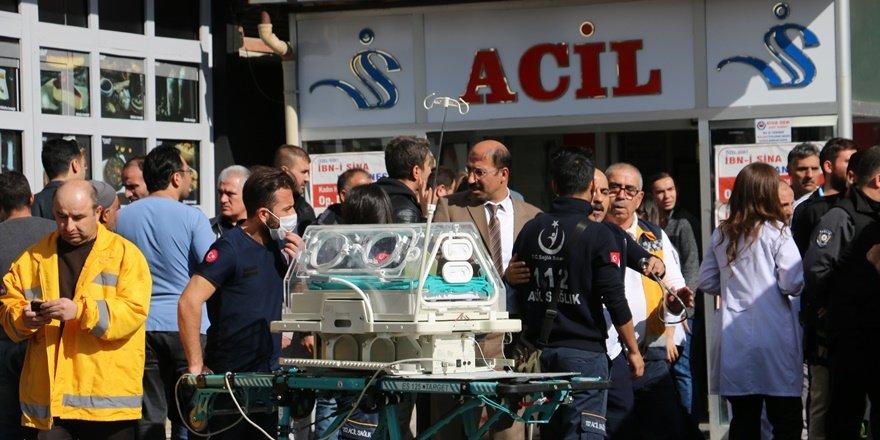 Siirt'te hastane yangını: Hastalar tahliye edildi, 6 hastane personeli yaralı