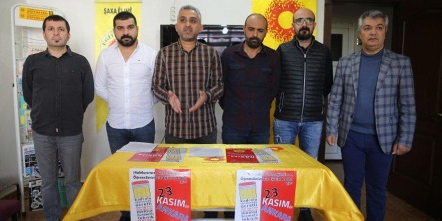 Batman Eğitim Sen'den 23 Kasım Ankara mitingine çağrı