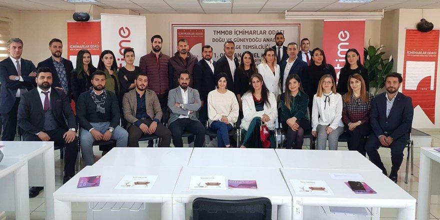 TMMOB İçmimarlar Odası Doğu ve Güneydoğu Anadolu Bölge Temsilciliği yönetimini seçti