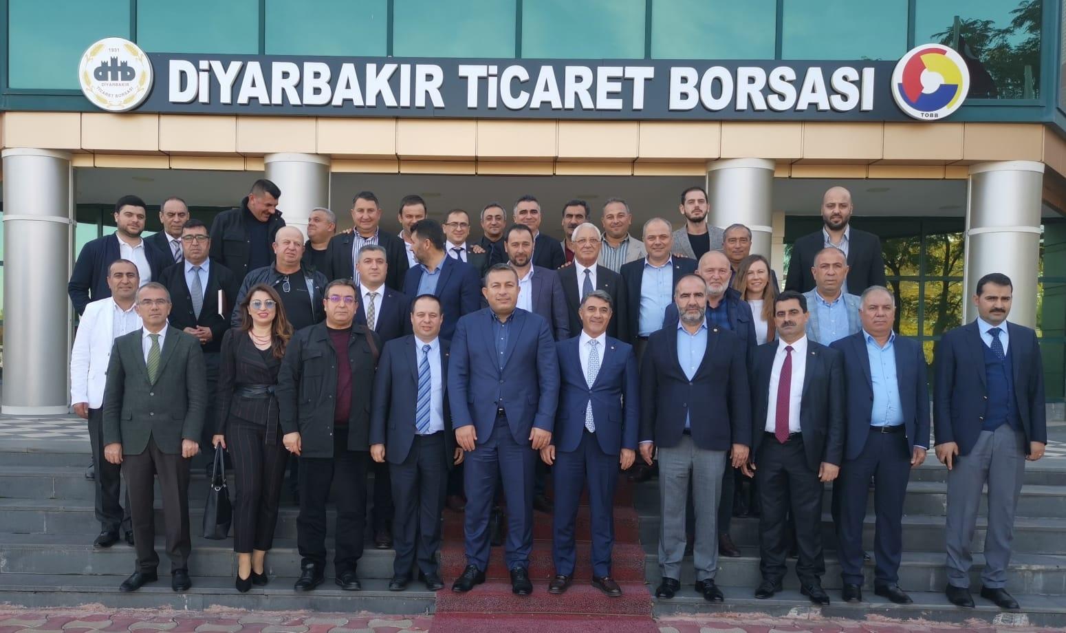 Çanakkale Ticaret Borsası heyeti Diyarbakır'da