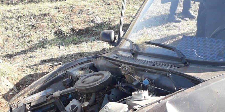 Çınar'da şarampole yuvarlanan otomobilde bir kişi yaralı