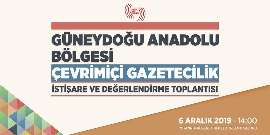 """BİK Diyarbakır'da """"Güneydoğu Anadolu Bölgesi Çevrimiçi Gazetecilik Çalıştayı"""" düzenleyecek"""