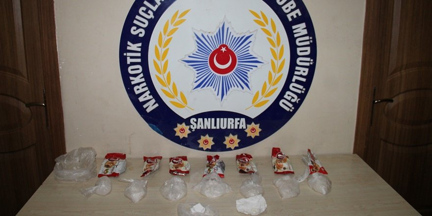Şanlıurfa'da kruvasan paketlerinden uyuşturucu çıktı