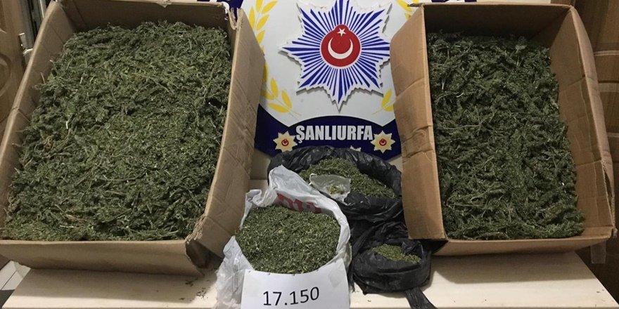 Şanlıurfa'da uyuşturucu taciri bağ evinde yakayı ele verdi
