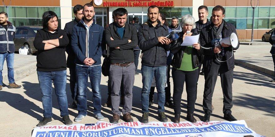 """Diyarbakır Sağlık Platformu'ndan """"Güvenlik soruşturması"""" ısrarına protesto"""