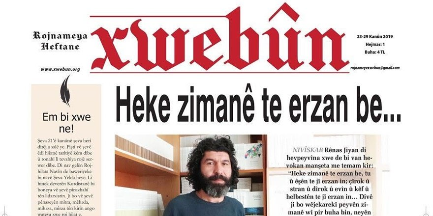Xwebûn her hafta Kürtçe seslenecek